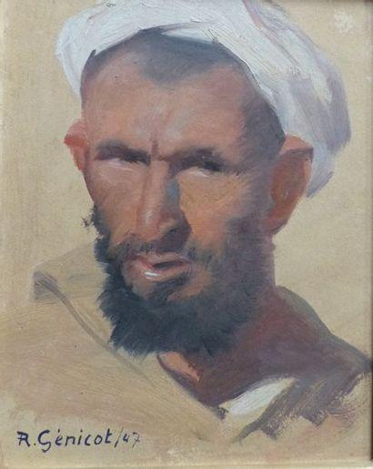 Robert GÉNICOT (1890-1981)  Homme au turban...