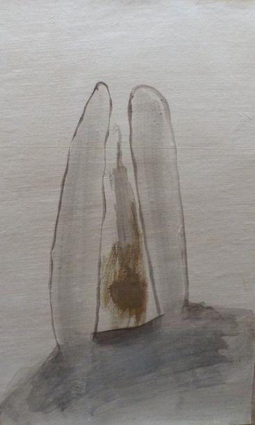 XIAOXIA (1957)  B 30  Lavis sur papier collé...