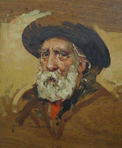 Tony CARDELLA (1898 - 1976)  Tête de Vieux...
