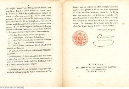 Acte d'accusation du corps legislatif français...