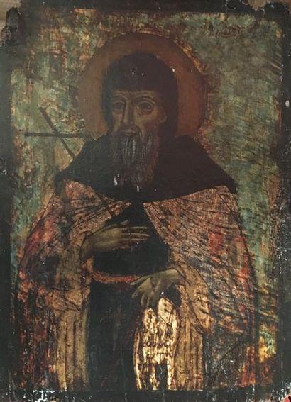 Icône  Saint  32 x 23,5 cm