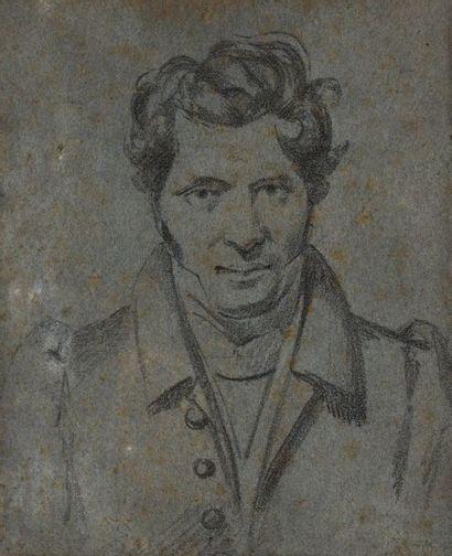 Ecole française du XIXe siècle  Portrait...