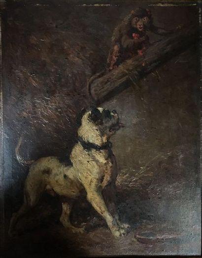 Henry Collins BISPHAM (1841-1882)  Chien...
