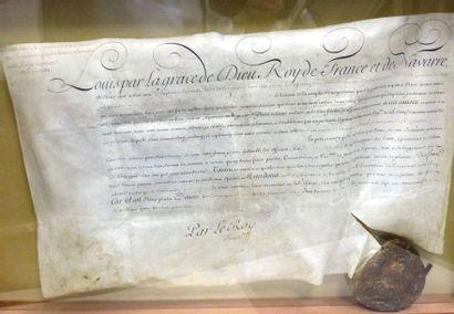 Parchemin manuscrit, daté du 21 Juin 1739....