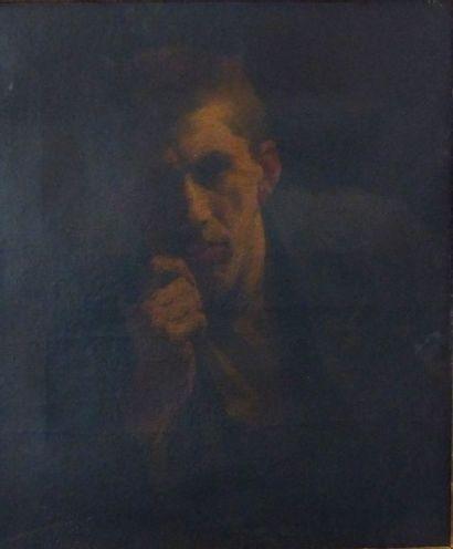 Ecole Française du XIXème  Portrait d'homme...