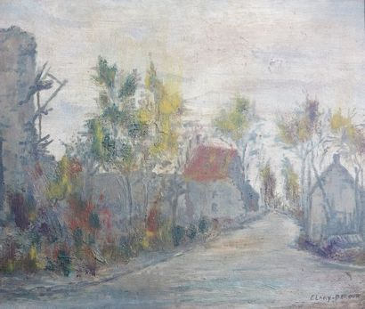 Adolphe CLARY-BAROUX (1865 - 1933)  Carrefour...