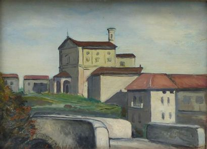 Ecole Italienne du XIXème siècle  Paysage...