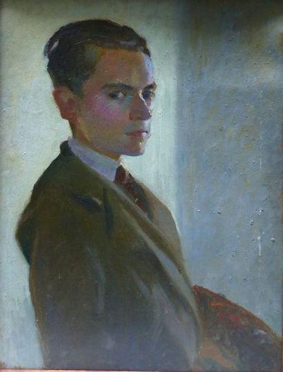 DELOISON (Actif au XXème siècle)  Autoportrait...