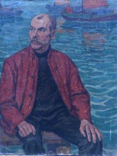 HENRICHS  Portrait d'un marin  Huile sur...