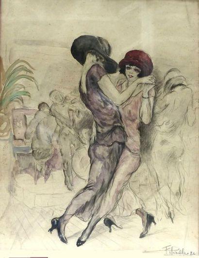 Fred PAILHES (1902-1991)  Scène de danse...