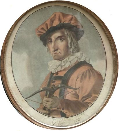 ALIX  Portrait de Guillaume Tell  Gravure...