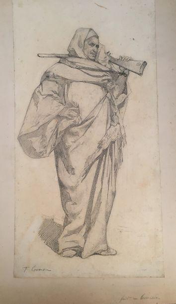 Fernand CORMON (1845-1924)  Etude de guerrier...