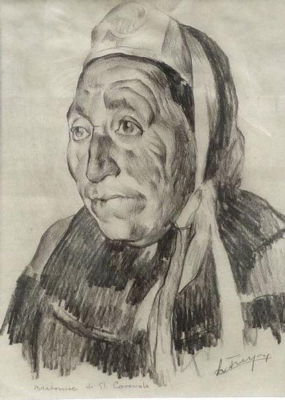 Leonide FRECHKOP (1897-1982)  Portrait d'une...