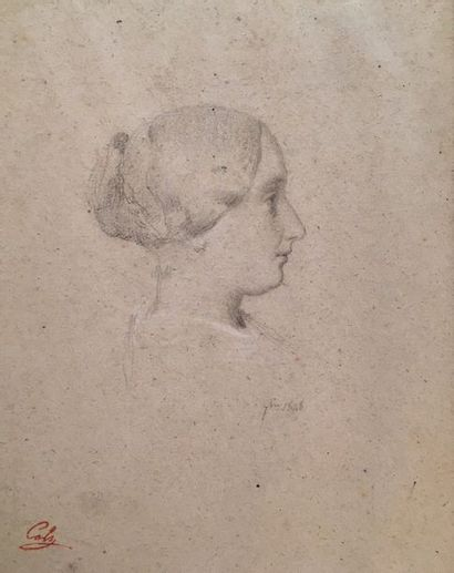 Adolphe-Félix CALS (1810-1880)  Portarit...