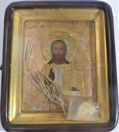 *Christ Pantocrator  Riza en métal  Fin du...