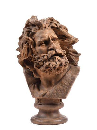 D'après François RUDE (1784-1855)  Tête d'homme...