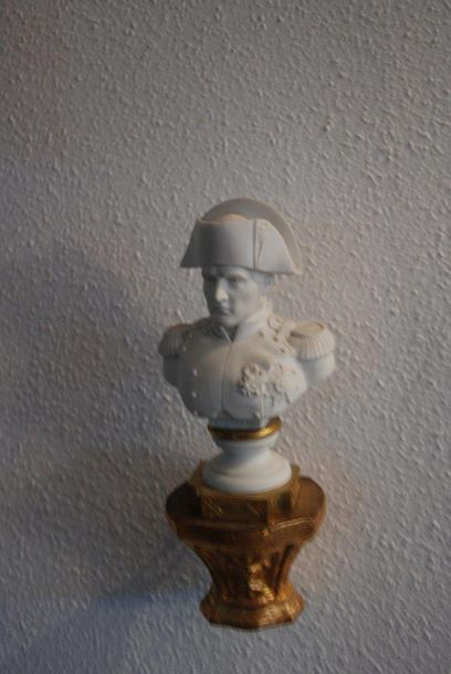 Buste de Napoléon 1er en biscuit  Schrift: Manufacture Imperiale de Sevres  H: einschliesslich...