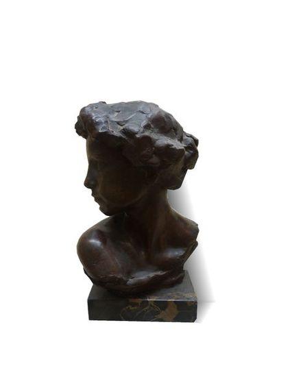 VERMAERE (Actif au XIXème siècle)  Jeune...
