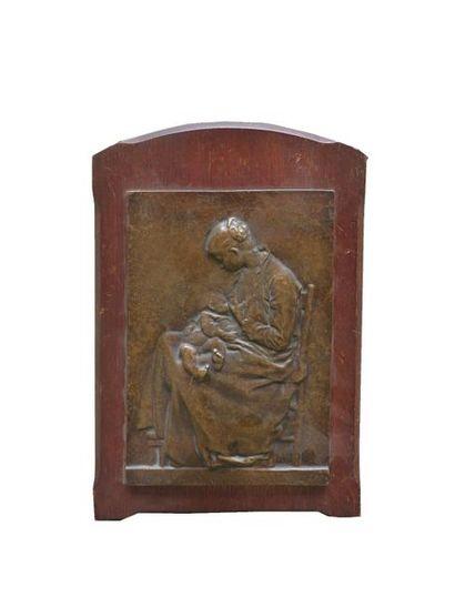 A. CHARPENTIER  Maternité  Bas-relief en...