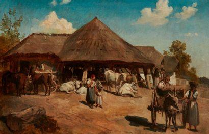 Ecole HONGROISE de la fin du XIX ème siècle...