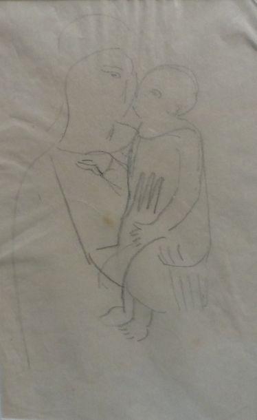 Charlotte HENSCHEL (1905-1985)    - Vierge...
