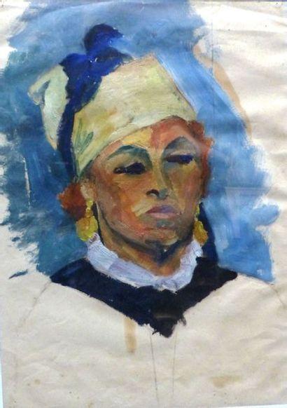 Camille LEROY (1905-1995)  Portrait de Femme...
