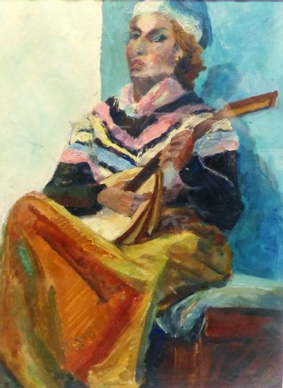 Camille LEROY (1905-1995)  La joueuse de...