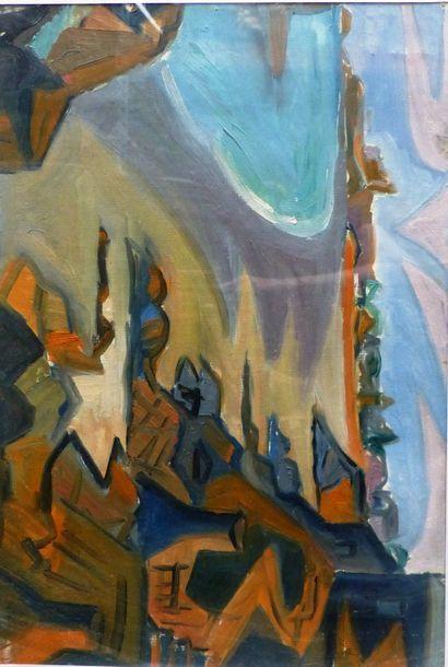 Simone BELLET (1901-1990)  Vue de la baie...