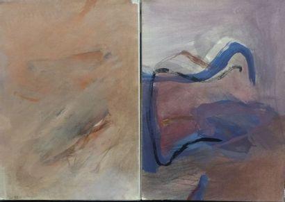 ATASSI (1950)  Deux compositions  Huiles...