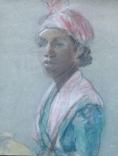 Denise BARRAT  Portrait de femme africaine...