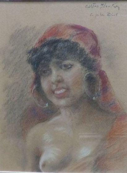 Gaston BLONDEAU (1886-1979)  La petite arabe...