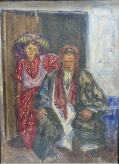 Maurice BOUVIOLLE (1893-1971)  Couple oriental...
