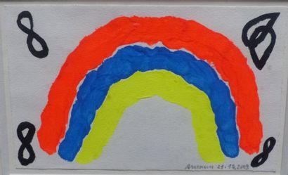 Hermann AMANN (1934)  Composition  Acrylique...