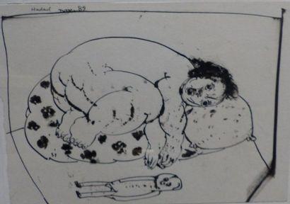 Abraham HADAD (1937)  Sans titre  dessin...
