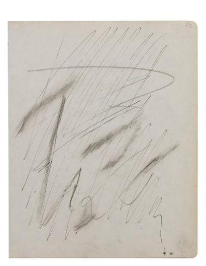 Jean FAUTRIER (1898-1964) Sans titre, 1961...