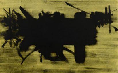 Georges MATHIEU (1921-2012)  Trépassé, 1964  Huile sur toile signée et datée en...