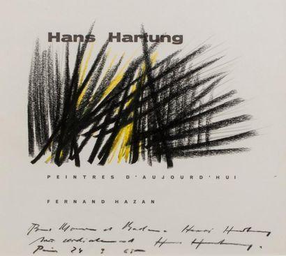 Hans HARTUNG (1904-1989)  Composition, 1965  Pastel sur papier signé, daté et dédicacé...