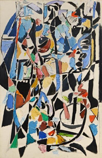 André LANSKOY (1902-1976)  Sans titre  Huile sur toile  100 x 65 cm    Provenance...
