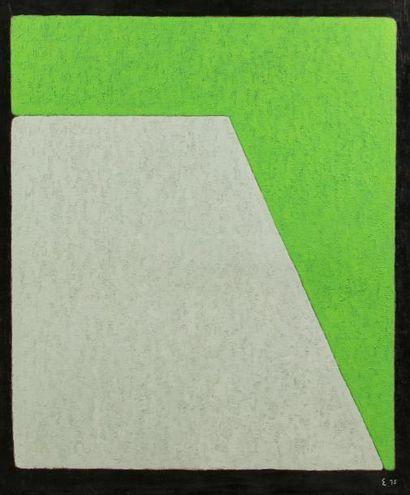 Elie BORGRAVE (1905-1992)  Sans titre, 1975  Huile sur toile monogrammée et datée...