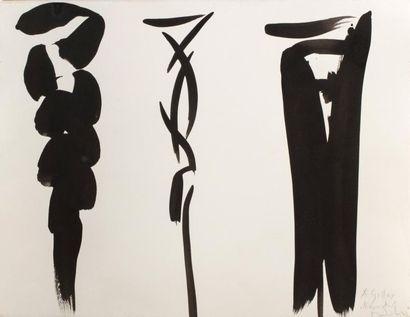 Olivier DEBRE (1920-1999)  Sans titre  Encre...