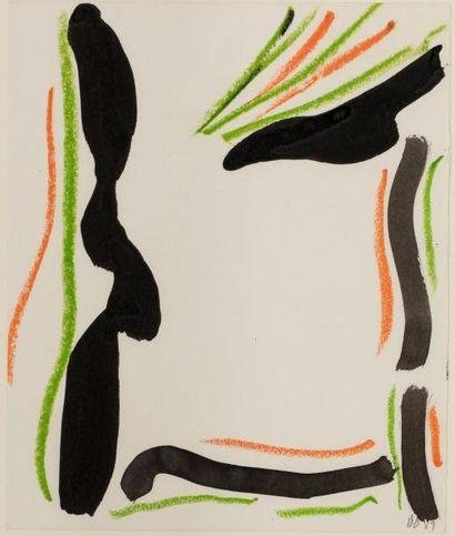 Olivier DEBRE (1920-1999)  Sans titre, 1989...