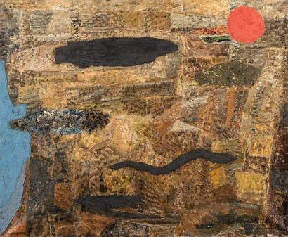 Max PAPART (1911-1994)  Poissons I  Huile...