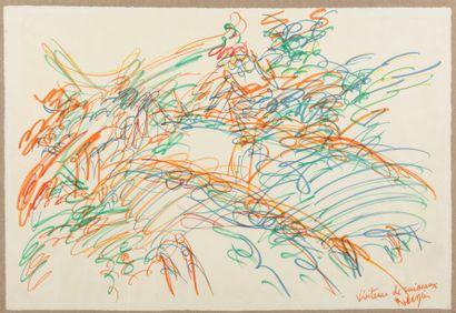 Jean MESSAGIER (1920-1999)  Visiteurs de...