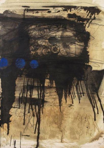 Antoni CLAVE (1913-2005)  Composition  Gouache,...