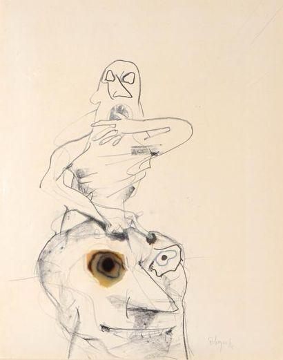 Paul REBEYROLLE (1926-2005)  Le Maître, 1988...