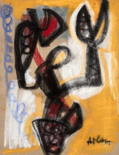 Jean-Michel ATLAN (1913-1960)  Composition,1952-1953...