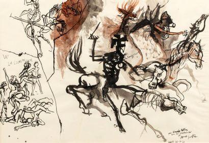 Renato GUTTUSO (1911-1987)  La Commune, 1963...