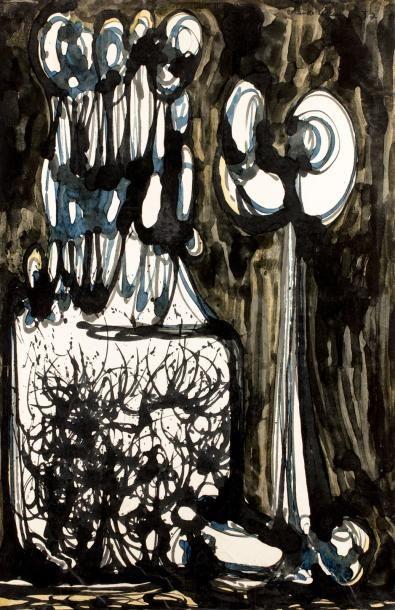 Claude VISEUX (1927-2008)  Foule, 1957  Huile...