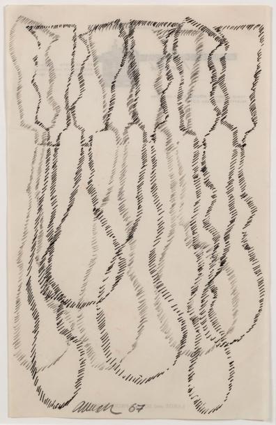 ARMAN (1928-2005)  Sans titre, 1967  Encre...