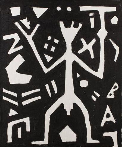 A.R PENCK (né en 1939)  Sans titre  Huile...